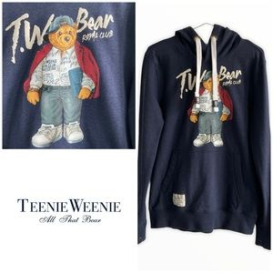 Teenie Weenie Bear Royal Club Navy Blue Hoodie M/L